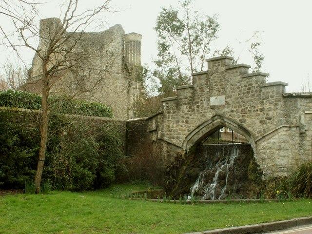 Water cascade, West Malling, Kent