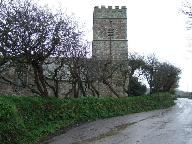 The church at St Michael Caerhays