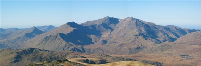 The Snowdon Horseshoe from Moel Siabod