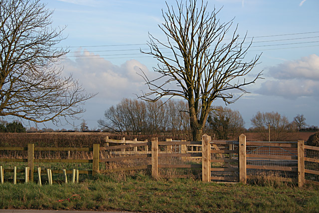 New fence at Brooksby Grange Farm