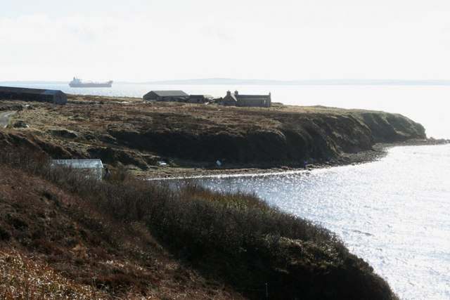 Headland at entrance to Waulkmill Bay, Orkney