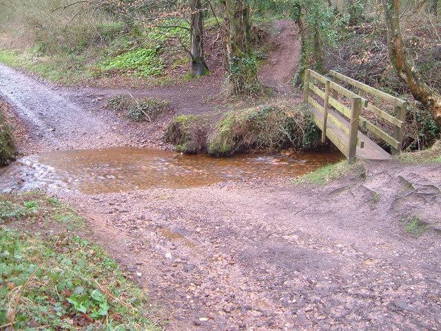 Ford and footbridge near Stowford