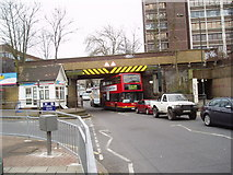 TQ4672 : Railway overbridge, Sidcup, Kent by Dr Neil Clifton