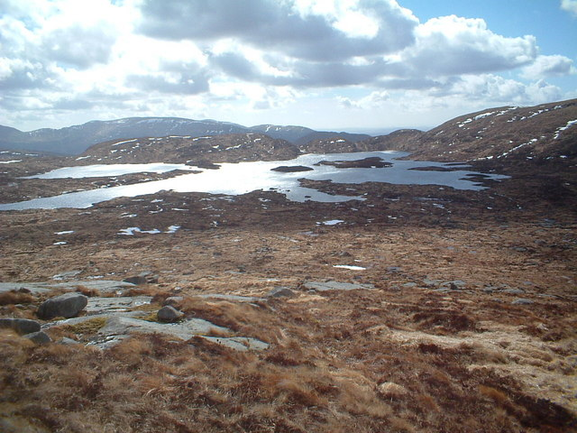 Loch Enoch from the slopes of Mullwharchar
