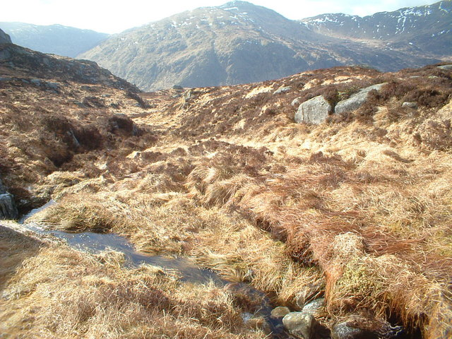 Trostan burn near the top of Craiglee