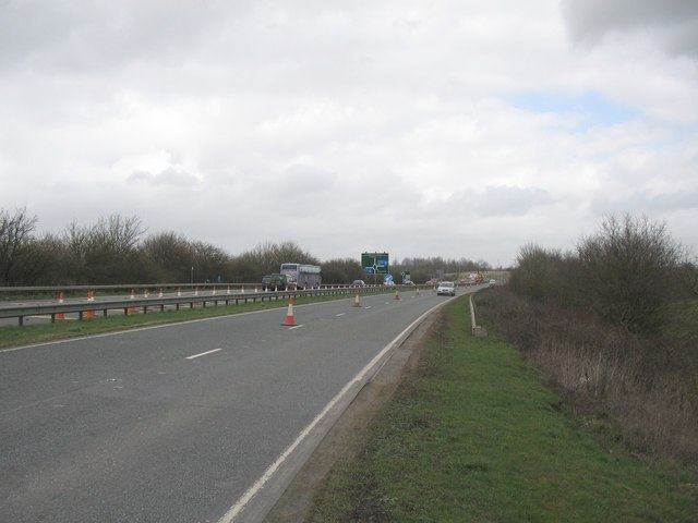 Temporary road works near M4 Junction 17