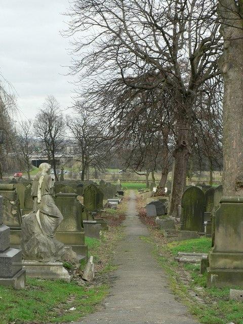Graves in Hunslet Cemetery