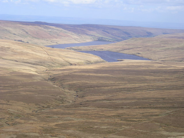 Angram & Scar House reservoirs from Nidd Head
