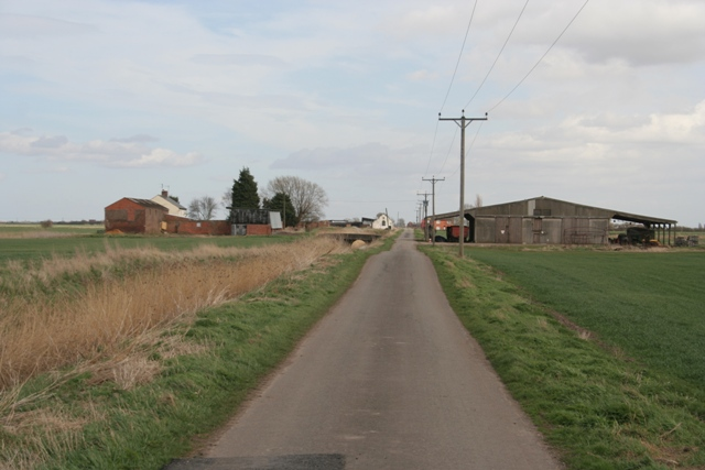 Farm buildings on Morton North Drove