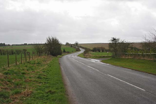 Road heading south from A343 near Middle Wallop