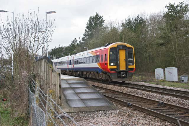 Train leaving Grateley Station