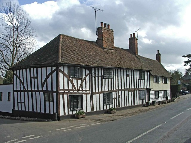 Timberclad building, High Street, Much Hadham, Hertfordshire