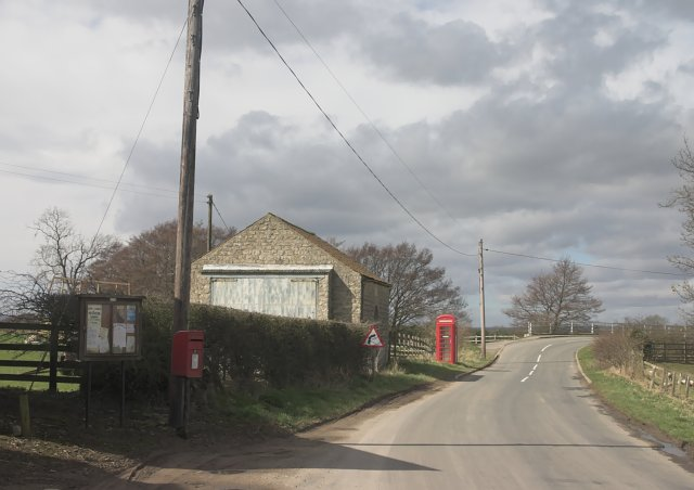 Phonebox and Postbox at West Ness