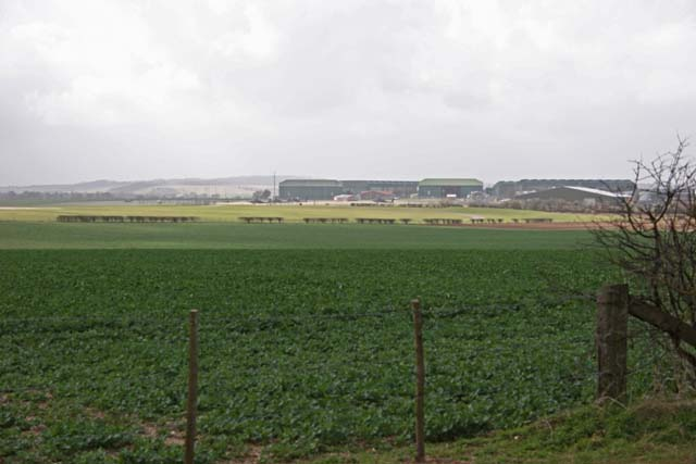 Farmland with Middle Wallop Airfield in the distance