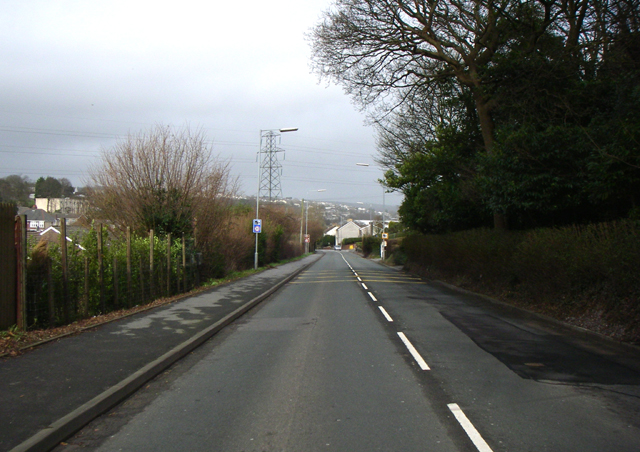 Stretch of road in Llanelli