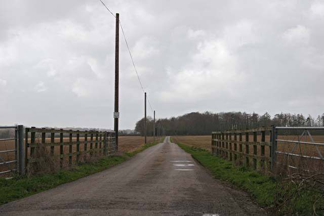 Private Road to Saxley Farm
