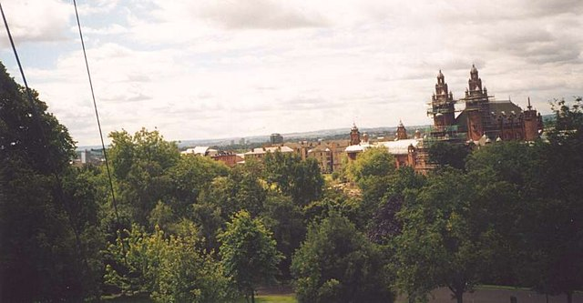 Glasgow seen from the University