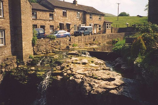 Gayle Beck in the centre of Hawes