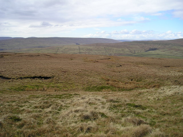 View west from the slopes of Great Whernside