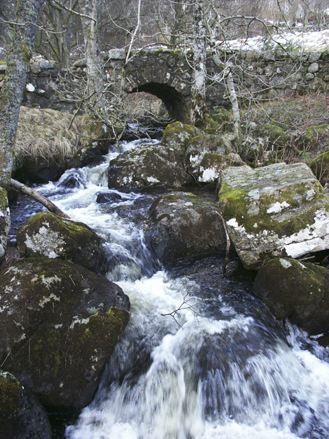 Bridge across Balmenoch Burn, nr Comrie, Perthshire