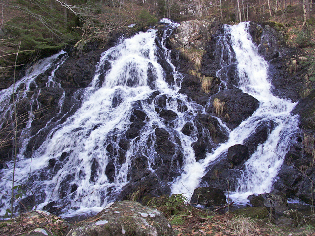 Waterfall on the Balmenoch Burn, near Comrie, Perthshire