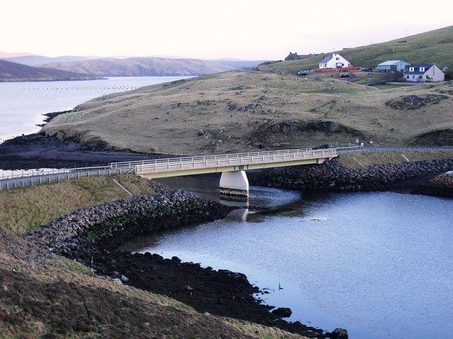 Bridge to Muckle Roe, Shetland
