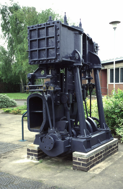 Marine engine at Northwich Salt Museum