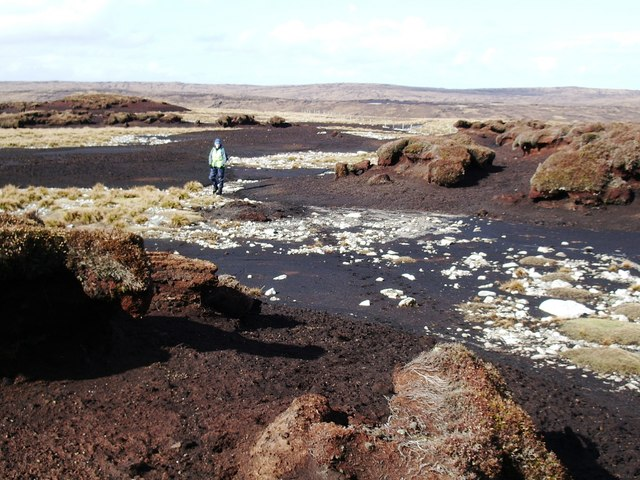 Eroded peat on Clubb of Tronister, Shetland