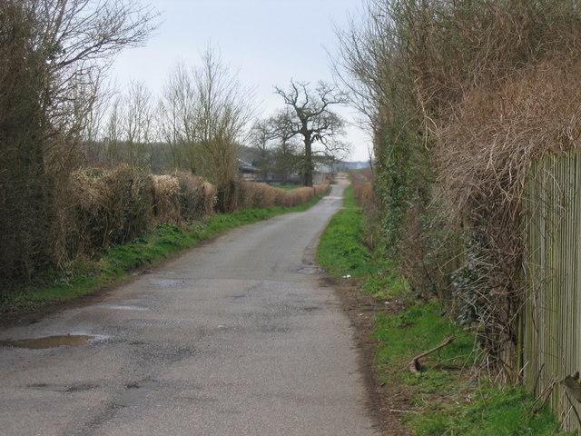 Lane leading to Chesterton Farm Cirencester