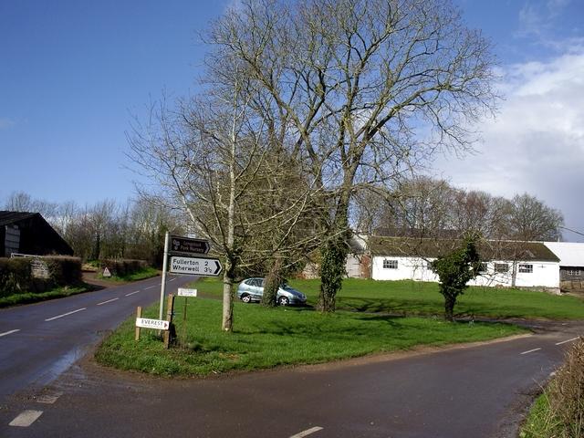 Hazeldown Farm and road junction