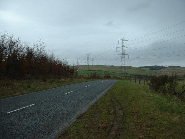 Pylons near Beattock