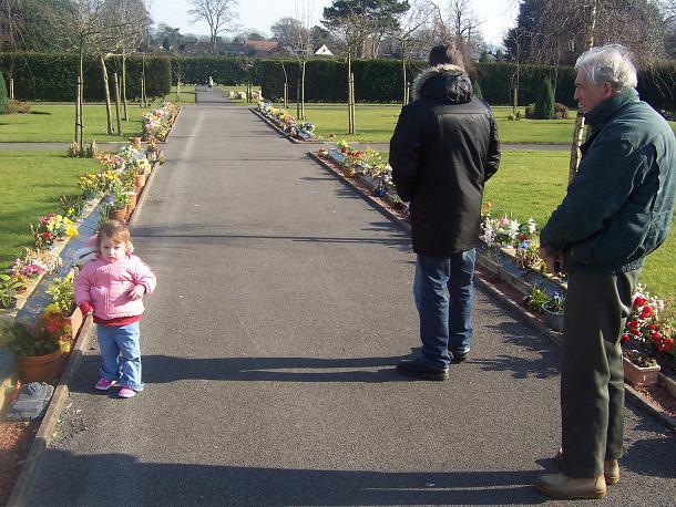 Macclesfield Cemetery - urn garden