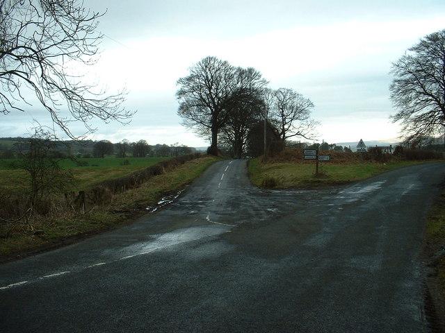 Road Junction near Newton