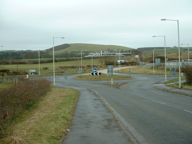 Roundabout near Junction 17 of M74