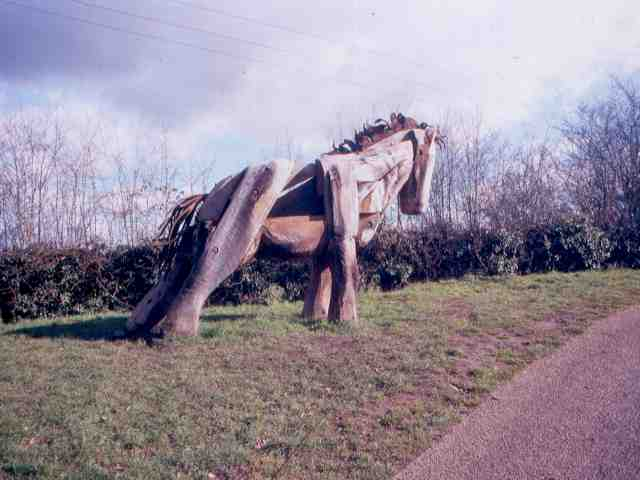 Carved Horse near to Nantwich Basin End