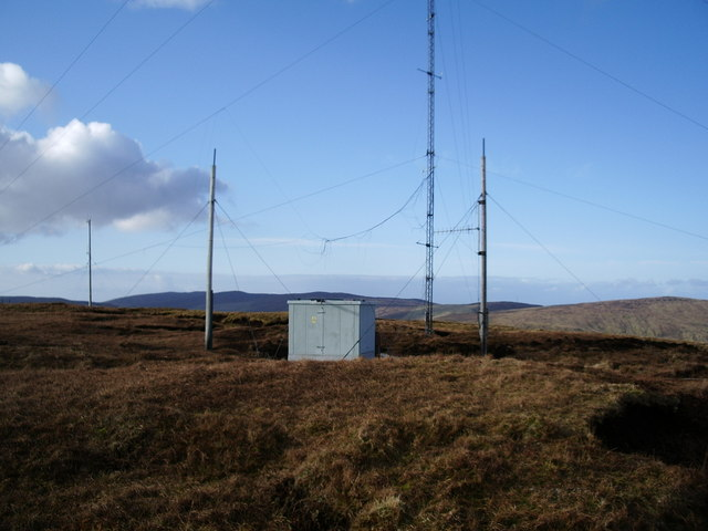 Masts on Hill of Susetter, Shetland