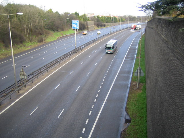 M1 Motorway near Luton
