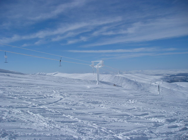 Frozen Ski Tow on Cairngorm