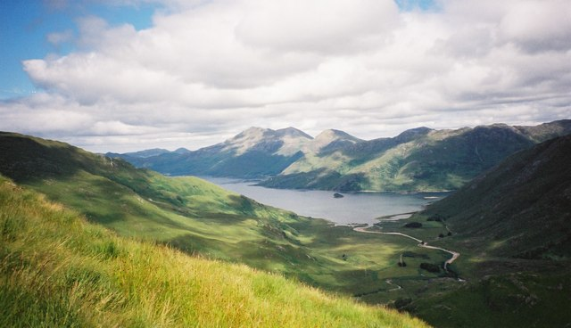 Loch Hourn and Barrisdale from Ladhar Bheinn