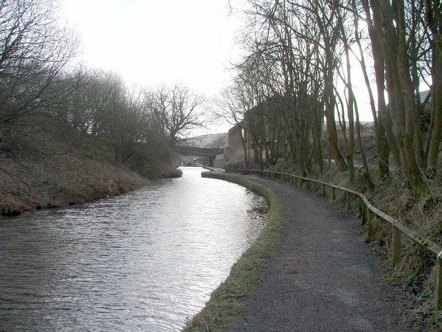 Huddersfield narrow canal at Marsden.