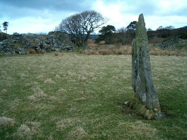 Standing stone at Achadh Chaorann