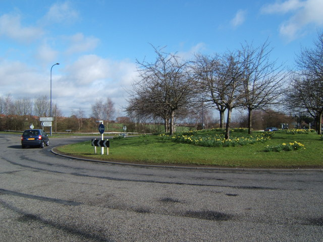 Roundabout on Wrotham Rd