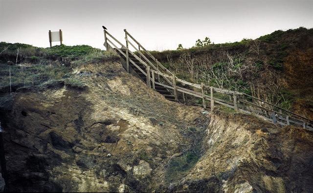 Cliffs along coast