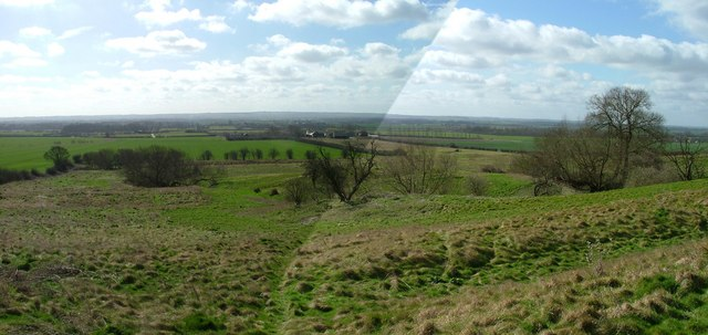 Panorama of Clopton medieval village from the north