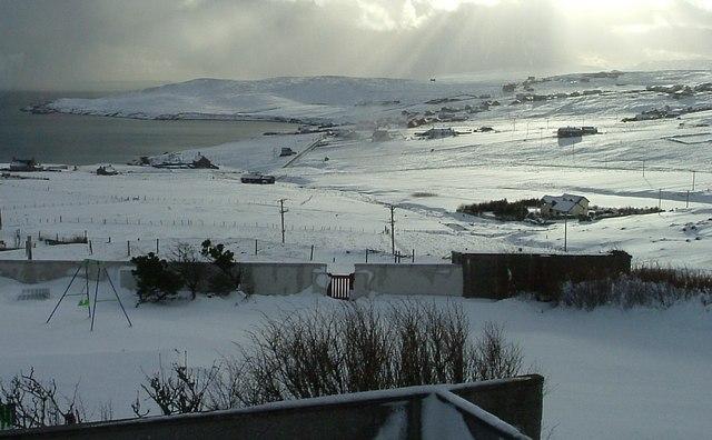 Snowy Gulberwick