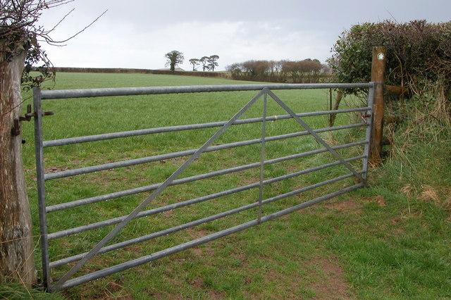 Gate on footpath near Lapford