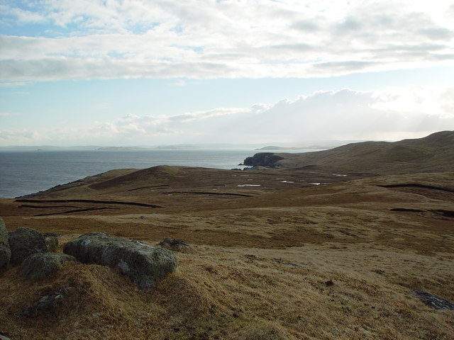 View from Ward of Hevdafield, Whalsay, Shetland