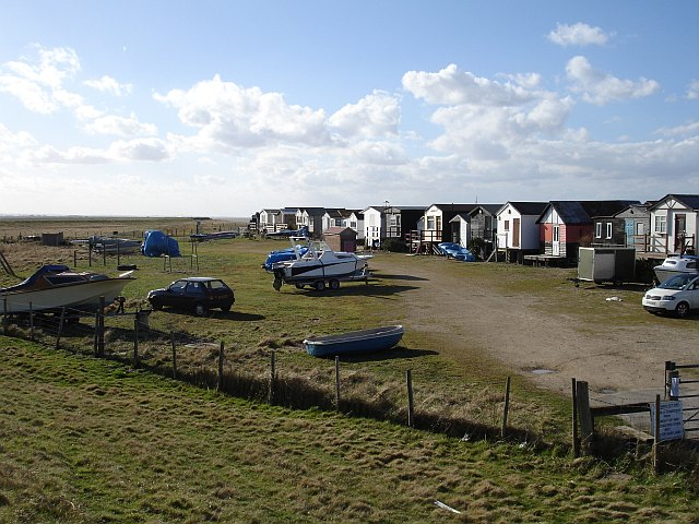 Beach huts, Graveney Marsh