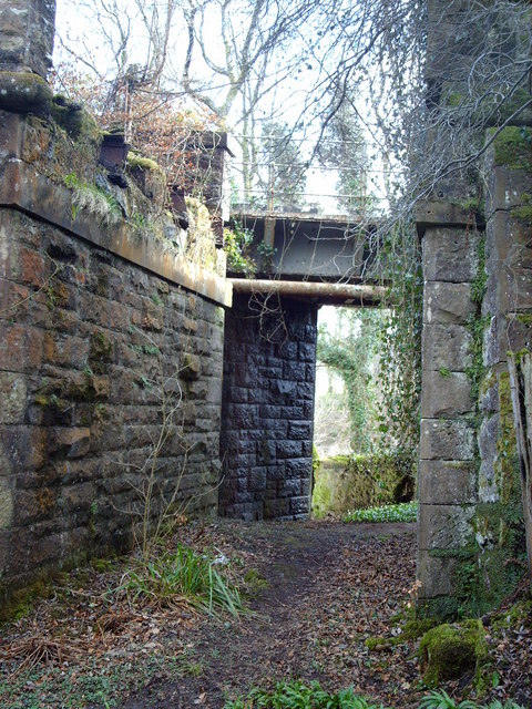 Railway viaduct in Dunrod Glen