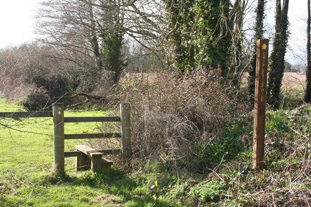 Nynehead: footpath to Chipley